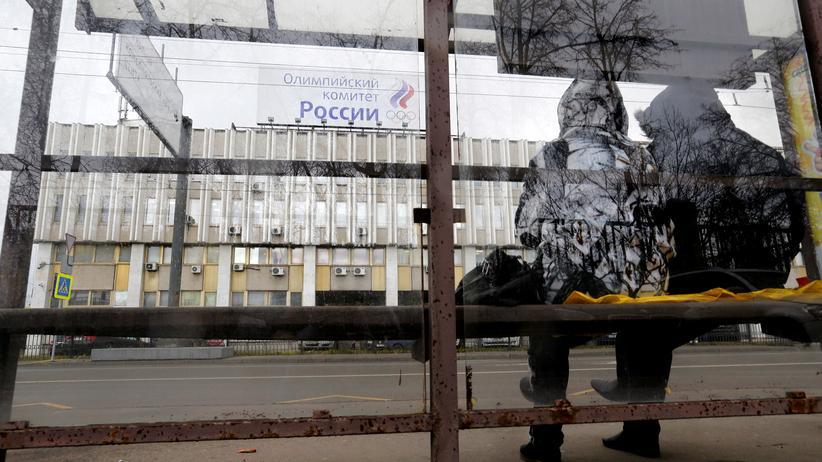 Dopingskandal: Das Hauptquartier des russischen Olympiakomitees in Moskau