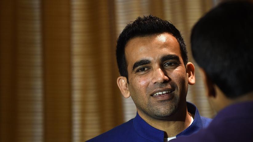 Zaheer Khan bei einer Pressekonferenz nach seinem Rücktritt