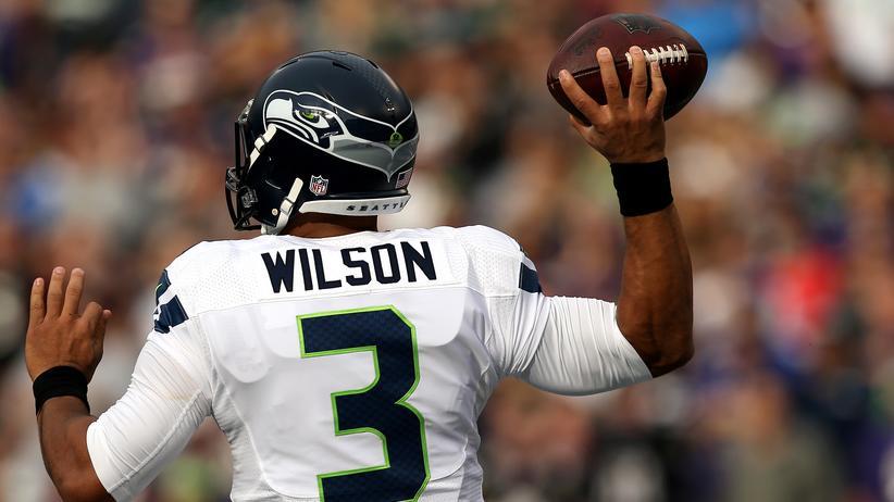 Hat trotzdem den Überblick: Russell Wilson.