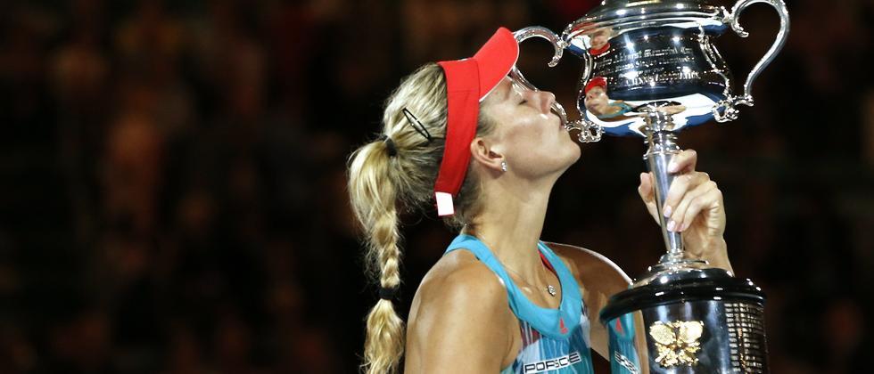 Angelique Kerber nach ihrem Sieg bei den Australian Open