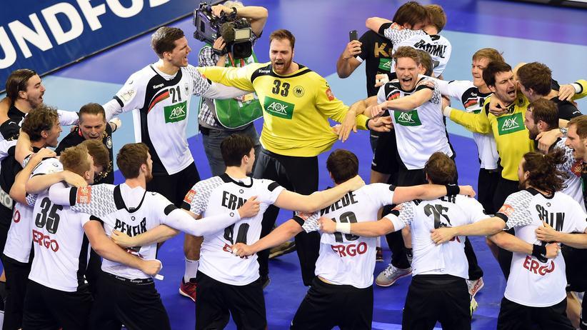 Handball-EM: Viel Grund zum Feiern: Die deutschen Handballer