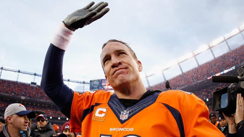 Peyton Manning nach dem Sieg gegen die New England Patriots