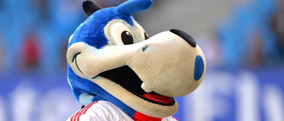 Hermann, das Maskottchen des Hamburger SV