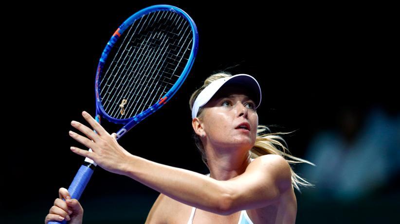 Maria Scharapowa: Möglicherweise ist sie so lange nicht mehr zu sehen: Maria Scharapowa mit Tennisschläger.