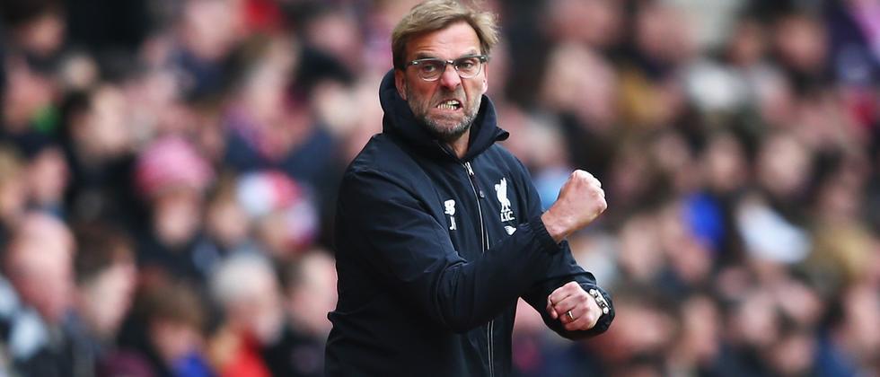 Jürgen Klopp fletscht auch in Liverpool die Zähne