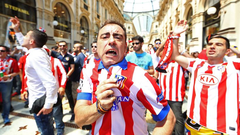 Atletico-Fans in Mailand