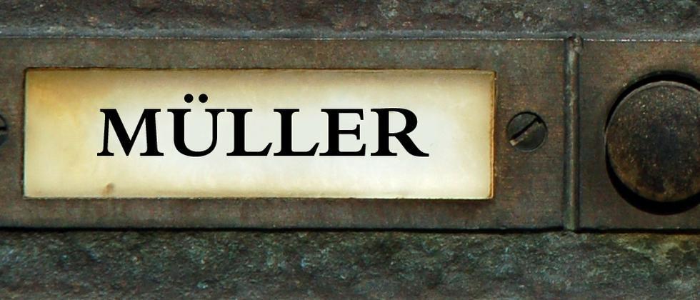 em, mueller, Schild