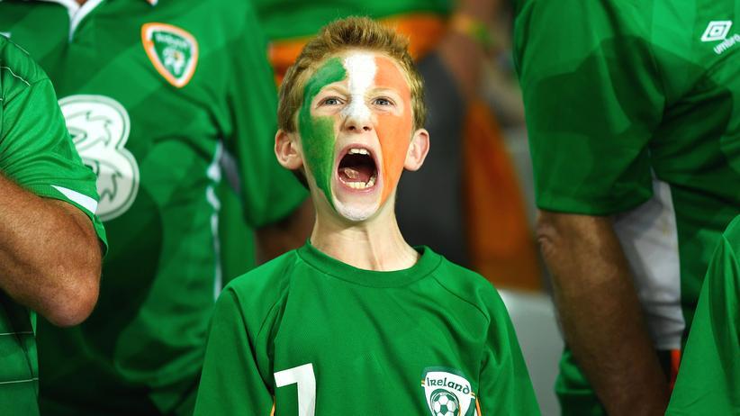 Fussball EM Irland Fan Lille