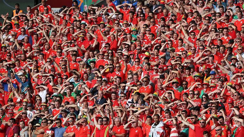 Suchen noch nach Höhepunkten: Fans aus Wales beim Achtelfinale gegen Nordirland.