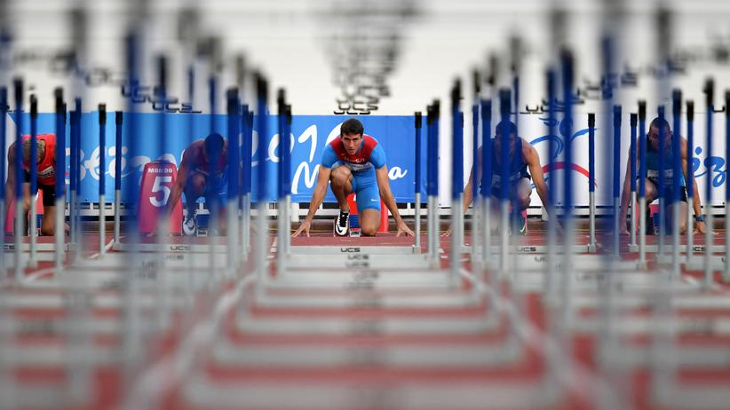 Rio 2016: Russische Athleten bei einem Wettkampf am 28. Juli in Moskau