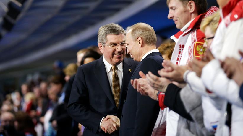 Verstehen sich auch weiterhin prima: Thomas Bach und Wladimir Putin.