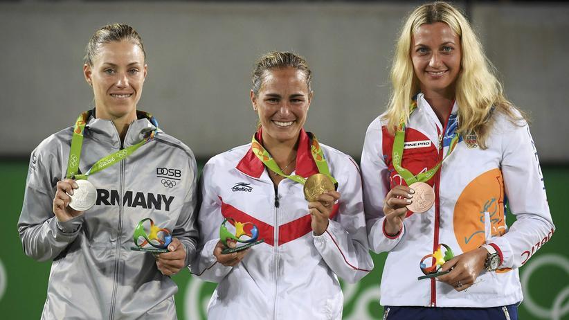 Im Tennisfinale der Frauen hat Angelique Kerber Silber gewonnen.