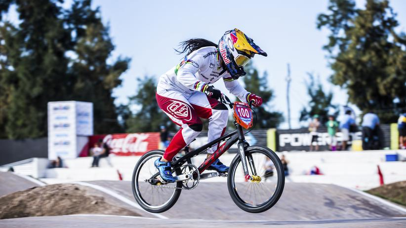 Die Columbianerin Mariana Pajon beim Super Cross World Cup.