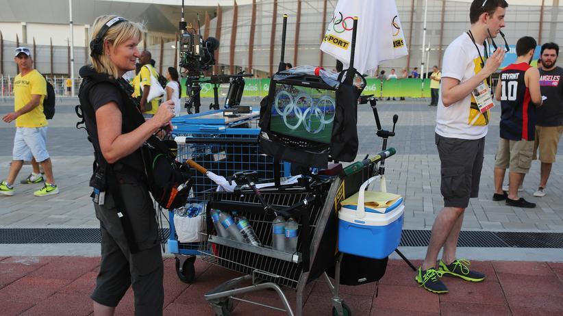 Olympische Spiele: Journalisten im Olympiapark von Rio de Janeiro