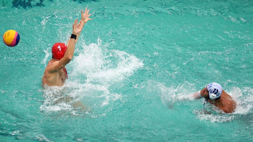Rio de Janeiro: Wasserballspieler bei den Olympischen Spielen im brasilianischen Rio de Janeiro © Kai Pfaffenbach/Reuters ()