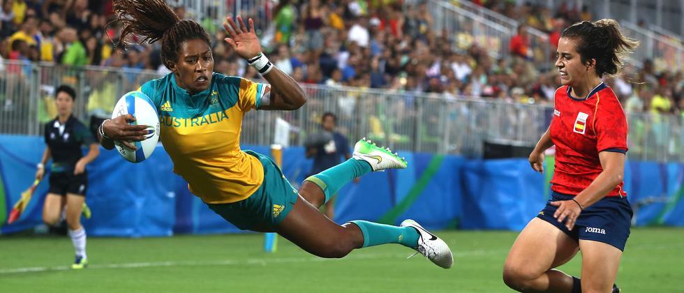Die Australierin Ellia Green erzielt einen Punkt. Mit welchem Körperteil sie dafür bezahlt hat, ist nicht überliefert.