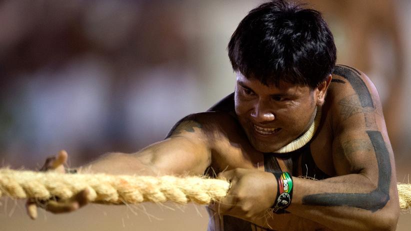 Rio 2016: Tauziehen war zwischen 1900 und 1920 eine olympische Disziplin.