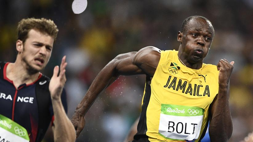 Sprinten: Christophe Lemaitre und Usain Bolt im 200-Meter-Finale
