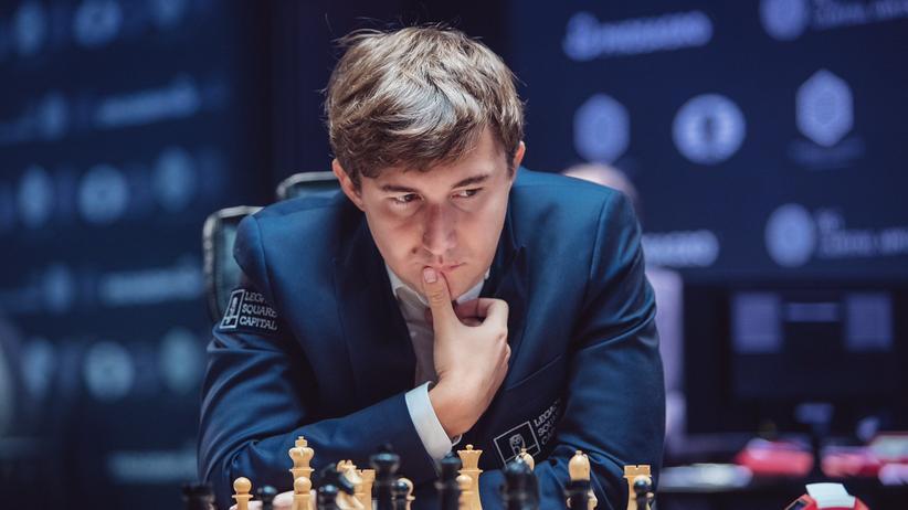 Schach-WM: Sergej Karjakin in der neunten Runde der Schach-WM