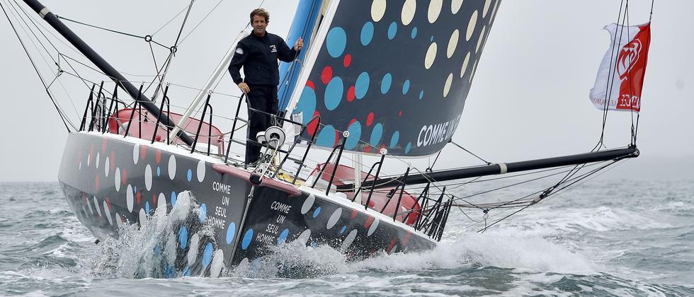 Der Franzose Eric Bellion ist einer der 29 Teilnehmer der Vendée Globe.