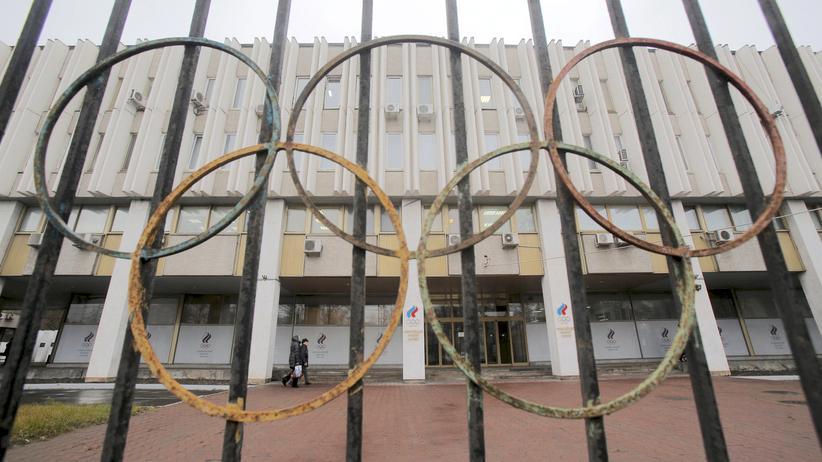 Russland: Blick auf das Hauptquartier des Olympischen Komitees von Russland in Moskau