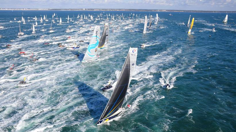 Segeln: Nach dem Start des Segelrennens Vendée Globe im französischen Atlantikhafen Les Sables-d'Olonne