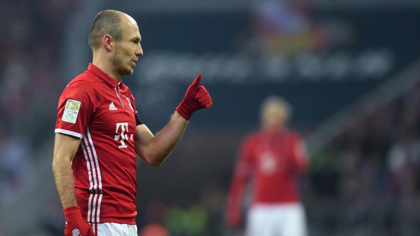 Vertragsverlängerung und jetzt auch noch ein Tor? Arjen Robben vom FC Bayern