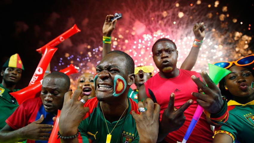Afrika-Cup: Fans von Kamerun beim Finale in Gabun