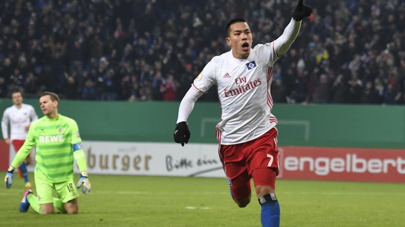 Bobby Wood vom Hamburger SV: Auch er sorgt für gute Stimmung an der Elbe.