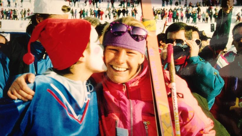 Antje Misersky: Antje Misersky freut sich über ihren Olympiasieg 1992 in Albertville.
