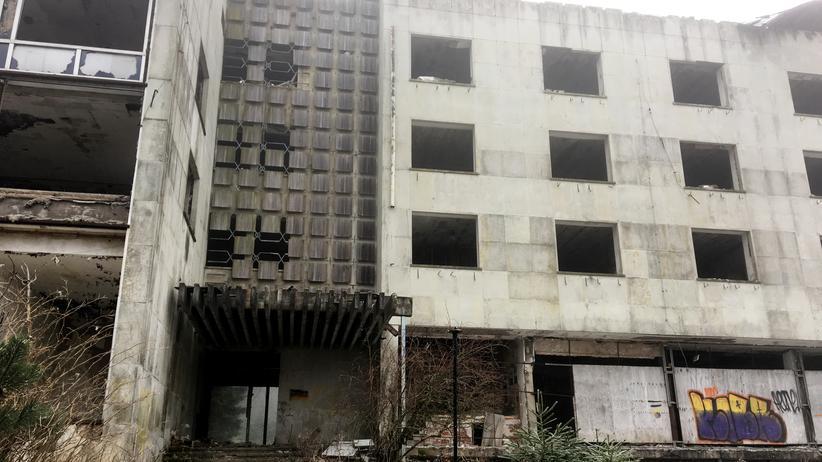 Oberhof: Das ehemalige, geheim gehaltene, Ferienheim des DDR.Ministerrats in Oberhof ist heute eine Ruine.