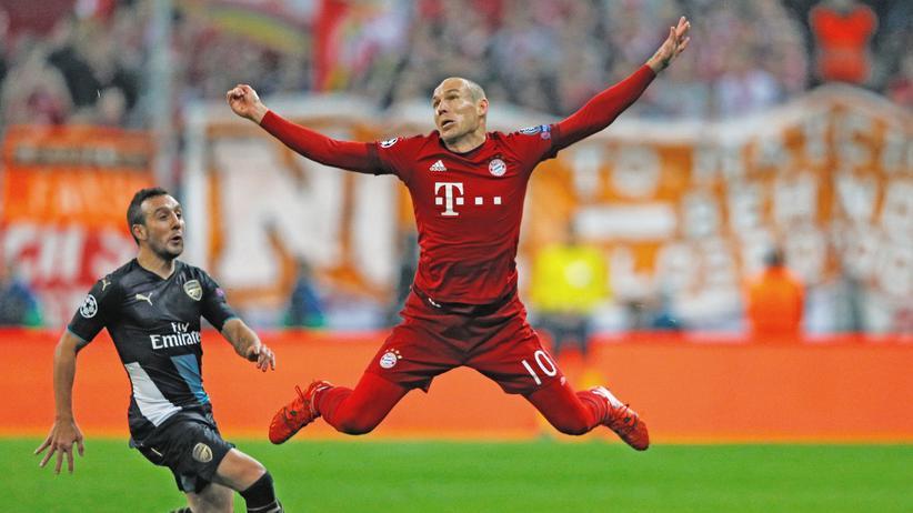 Fußball und Ästhetik: So schön fällt nur einer, Arjen Robben und sonst keiner.