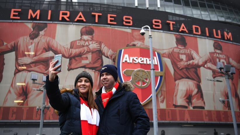 Wichtige Disziplin vor Arsenal-Spielen: Selfies machen.