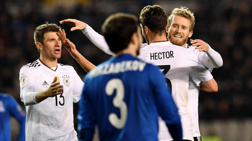 Aserbaidschan – Deutschland 1:4: Einmal im Leben den Weltmeister tunneln