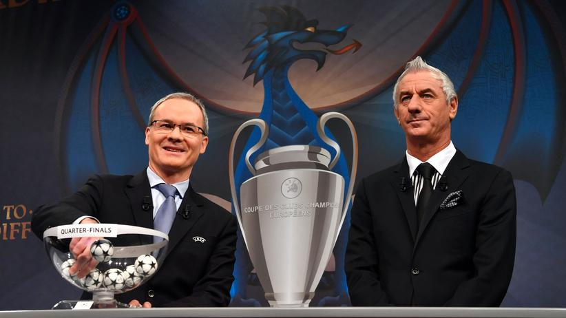 Champions League: Das Champions-League-Viertelfinale wurde in Nyon ausgelost.