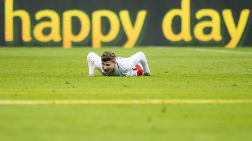 RB Leipzig: Timo Werner von RB Leipzig kann seinem Team vorerst nicht helfen. Er ist verletzt.