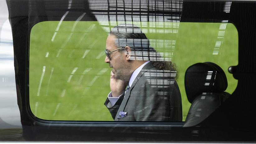 Korruption: Scheich Ahmad al-Fahad al-Sabah am Fifa-Hauptquartier in Zürich.