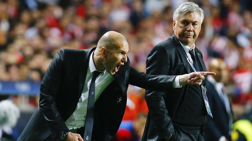 Champions League: Einst lernte Zinédine Zidane von Carlo Ancelotti, heute fordert er ihn im Viertelfinale der Champions League heraus.