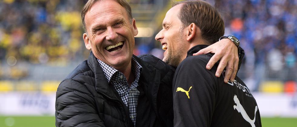 Ein Bild aus besseren Tagen: BVB-Trainer Thomas Tuchel und sein Chef Hans-Joachim Watzke.