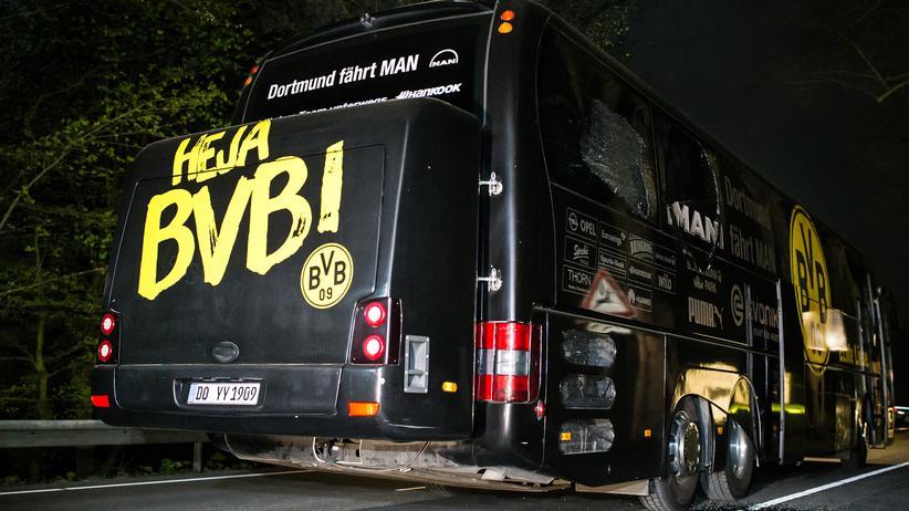 Uefa: Der BVB-Bus am Tatort