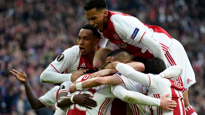 So freuen sich wieder: Die Spieler von Ajax Amsterdam