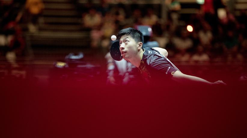 Ma Long: Ma Long bei der Tischtennis-WM in Düsseldorf