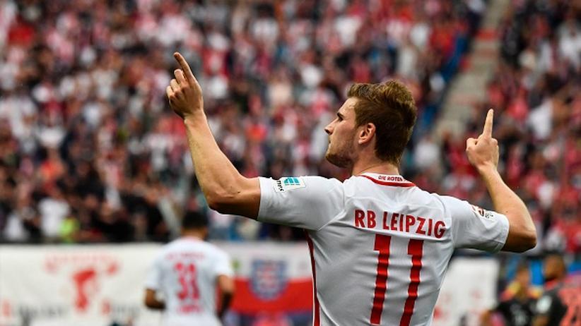 Champions League: Ist natürlich alles in Ordnung: Timo Werner und RB freuen sich