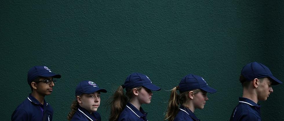 Augen geradeaus: Die Ballkinder von Wimbledon