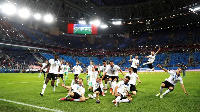 Confed Cup: Jubel bei der deutschen Mannschaft nach Gewinn des Confederations Cup