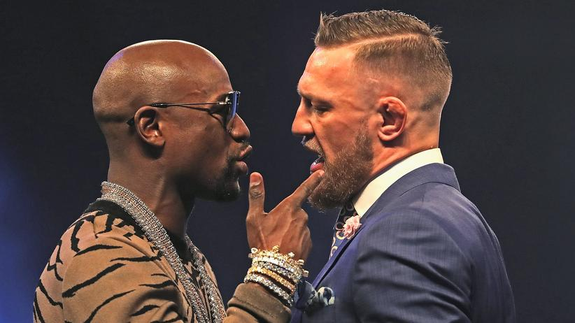 Super sympathische Typen: Floyd Mayweather (links) und Conor McGregor