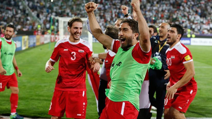 Syriens Fußballer freuen sich