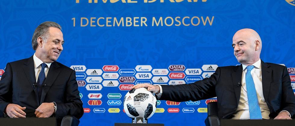 Der russische OK-Chef Vitaly Mutko (links) und Fifa-Präsident Gianni Infantino kümmern sich ums WM-Turnier.