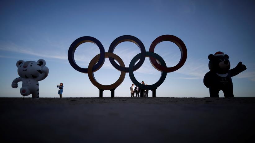 Olympische Ringe bei Pyeongchang