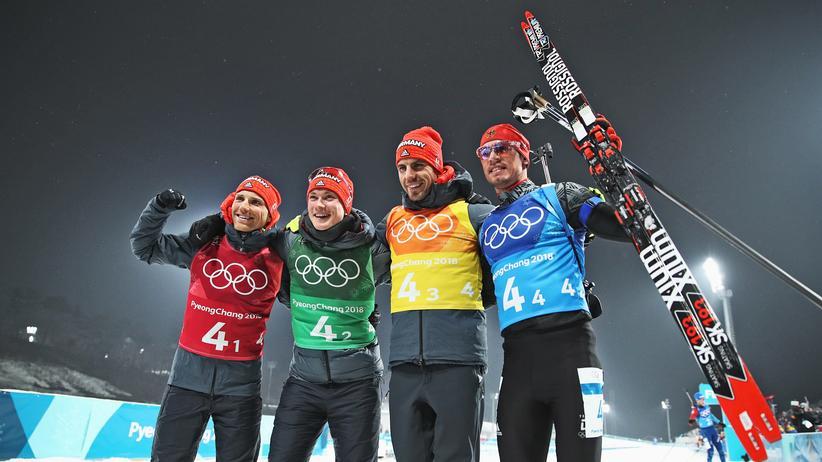 Olympia: Deutsche Biathleten gewinnen Bronze in der Staffel